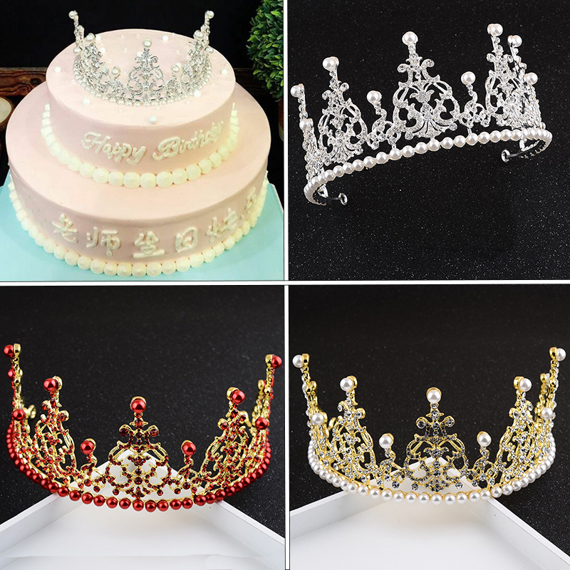 6pcs Quality Crown cake decoration birthday Party supplies ...