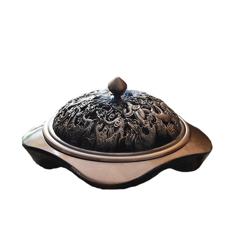 Chinoiserie Creative Rétro Métal Encens Brûleur pour La Décoration Intérieure Bouddhiste Temple Aromatique Titulaire Aroma Encensoir Encens Brûleurs W $
