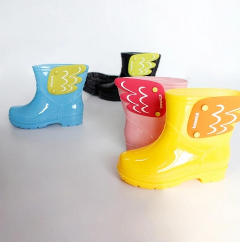 Koovan-Children-Rain-Boots-Childrens-Mid-Cut-Kids-Fashion-Baby-Girls-Boys-Water-Shoes-Cartorn-Wing-Fly-Rubber-Boots-Light-Wings-1