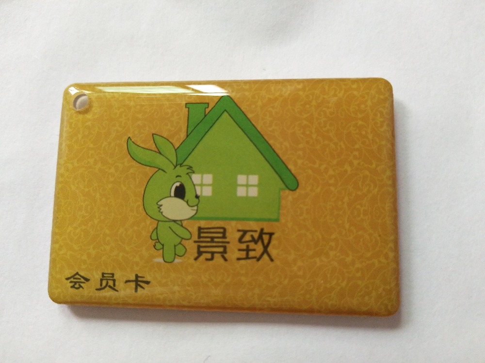 500pcs/lot Customized Fashion Waterproof Epoxy Coated RFID Tag Proximity 125KHZ Epoxy Card Keytag with TK4100 Chips waterproof contactless proximity tk4100 chip 125khz abs passive rfid waste bin worm tag for waste management