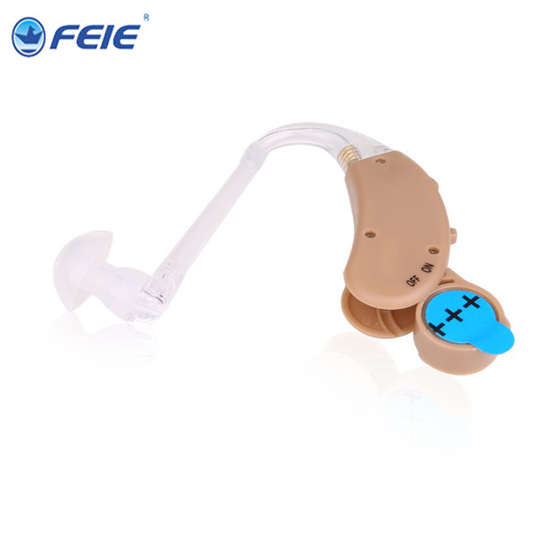 Buy more with Discount FEIE Analog Behind Ear Sound Voice Amplifier BTE Hearing Aids Acoustical battery S-268 For The Old
