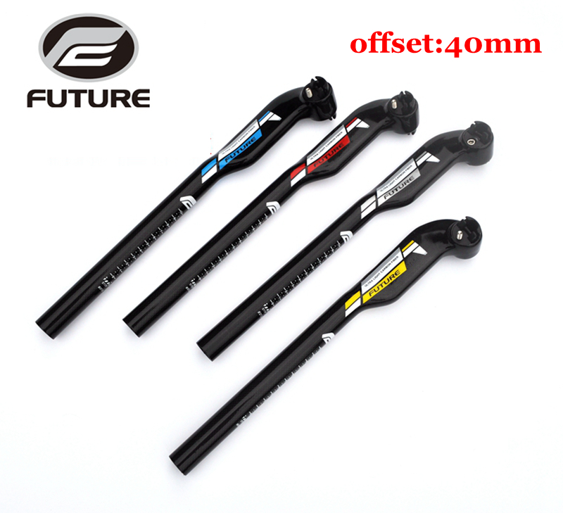Carbon seatpost mountain road bike seat tube full carbon fiber bicycle seatpost cycling setback offset 40mm MTB bike parts