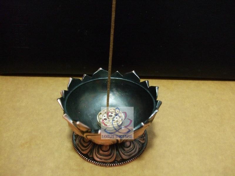 Quemador de incienso tibetano de loto 7.8 * 7.2 * 6.0 cm Aleación de - Decoración del hogar - foto 6