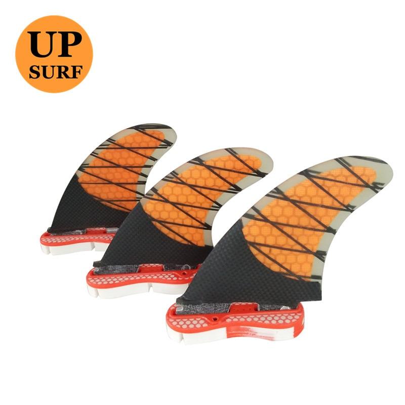 Aileron de Surf fcs ii K2.1 Quilhas orange Honeycomb Fins Surf FCS2 Ailettes Surf carbone fibre fin