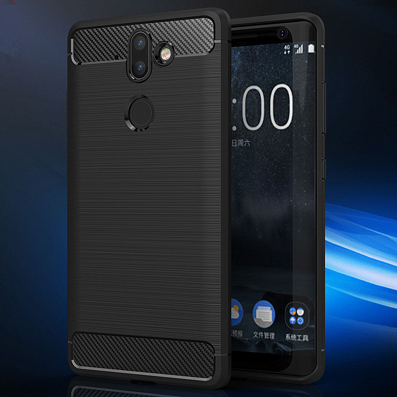 For Nokia 8 Sirocco Case Nokia 8 Sirocco Cases Luxury Carbon Fiber TPU Cases For Nokia 8 Nokia8 Sirocco TA-1005 Covers Cases