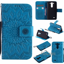 "Fashion Embossed Case For fundas LG G3S G3 S Case For coque LG G3 Beat Cover Case D722 D724 D725 D728 5"" + Card Holders(China)"