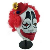 Halloween Clown Mask Cosplay Funny Joker with Hat Masks Helmet Party Props