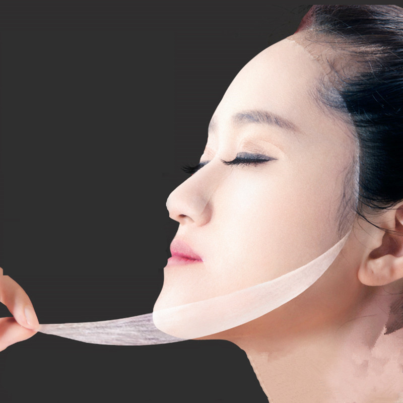 120pcs pack Natural Silk mask paper Skin Face Care DIY Facial Paper Cotton Invisible Mask For