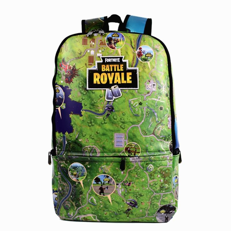 451cb22762 FVIP Map Design Game Backpack Full PU Leather School Bag For Boys Men s  Travel Bag Green and Black Color