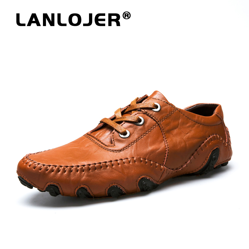 Hot Sale 2019 New Men Casual Shoes Male Adult Genuine Leather Brand Autumn Winter Walking Driver