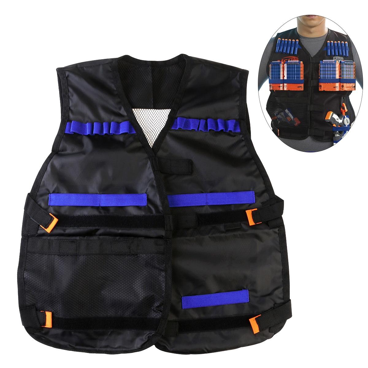 A Tactical Vest Kids Toy Gun Clip Jacket Foam Bullet Ammunition Holder