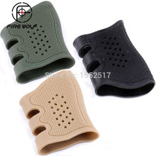 Universele Pistool Rubber Bescherm Cover Grip Handschoen Tactische Anti Slip Glock holster
