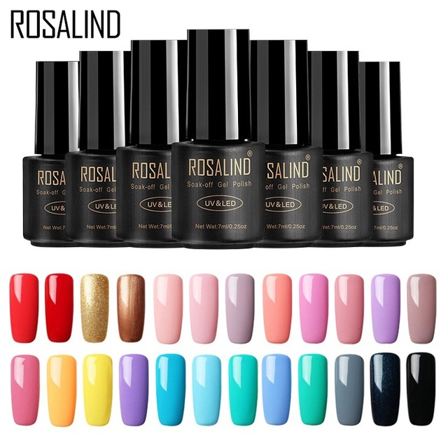 Rosalind Nail Gel Polish 7ml 58 Fresh Colors Soak Off Uv Hybrid Set