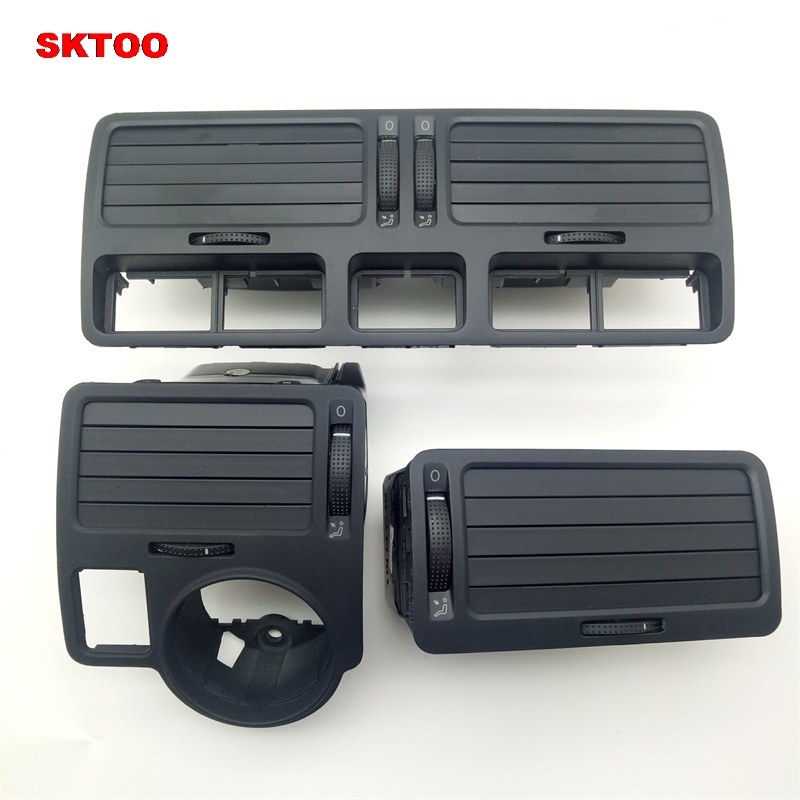 SKTOO Black dashboard outlet center console panel car air conditioning vent vent old for Volkswagen Bora Golf 4 a style new car black center console rear ac air conditioning outlet vent for vw touran caddy 2003 2015 1t0 819 203 a 1td819203a