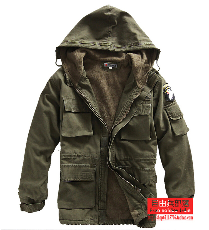 2015 Spring Casual Canada Mens cotton coat army green outwear ...