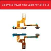 本物のパワー & ボリュームフレックスケーブルzteヌビアZ11 NX531J電源 & ボリュームサイドキーパッドスイッチボタンフレックスリボン電話の修理部品