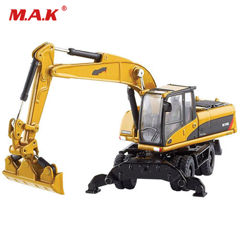 Collection Diecast Model Car DM 1:87 Scale M318D Wheel Excavator 1/87 Scale Diecast Navvy Truck Model Kids Toys Collection Gift