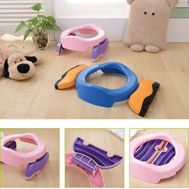 Portable Baby Toddler Potty Toilet Trainer Safety Seat Chair Travel Potty with Adjustable Ladder Infant Toilet Training Non-slip | Happy Baby Mama