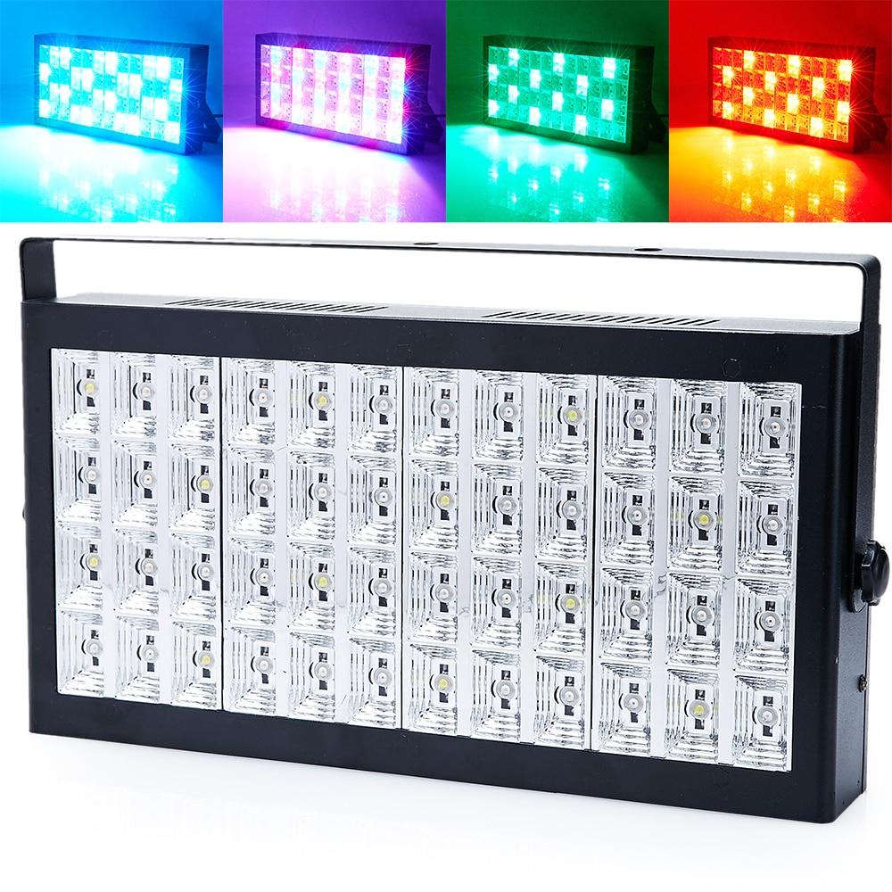 3IN1 DMX/contrôle du son 48 RGB LED lavage lampe stroboscopique Grille Disco fête DJ lumière de la maison spectacle de musique projecteur éclairage de scène