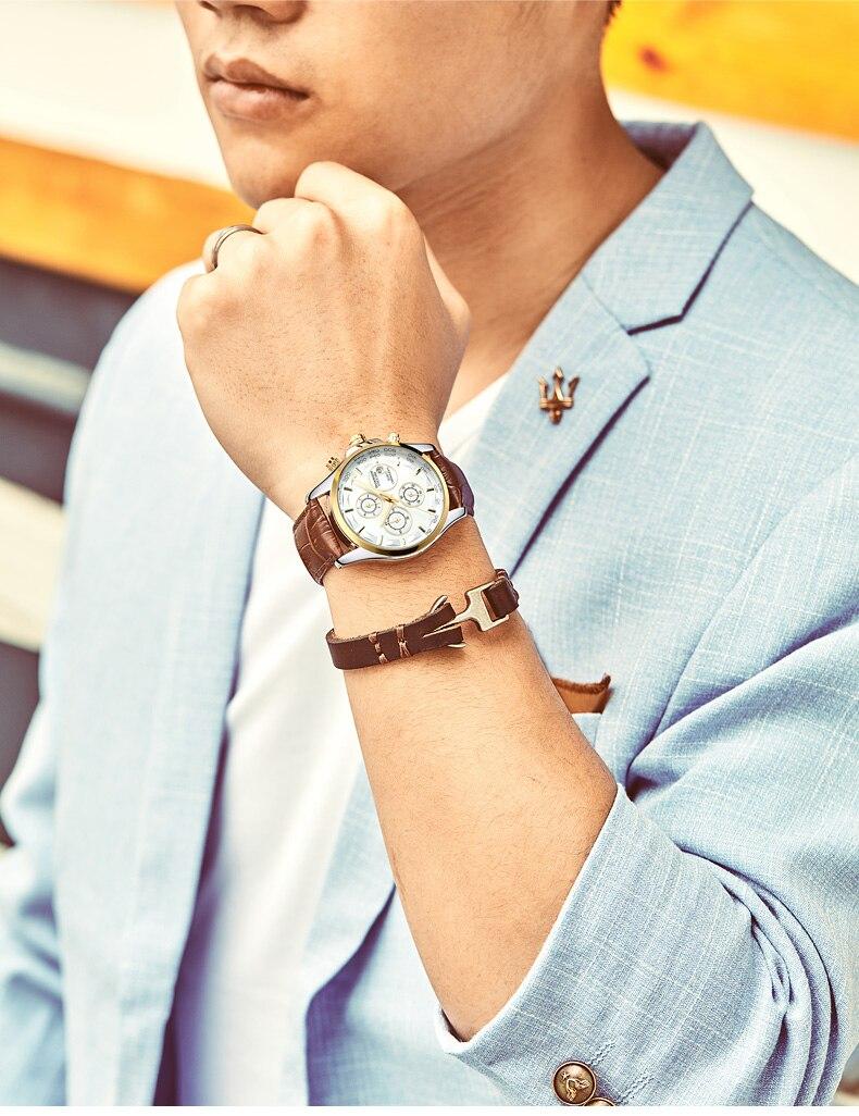 GUANQIN GS19112 watches men luxury brand quartz watch multi-functional men's watch trend sports luminous waterproof calendar 53