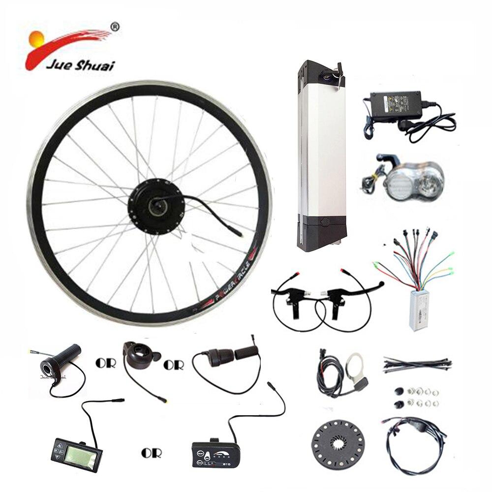 20 24 26 700C (28) kit vélo électrique 36V10AH/12AH Bouilloire Batterie Ebike Kit Avec 250 W 350 W 500 W roue avant Moteur bicicleta