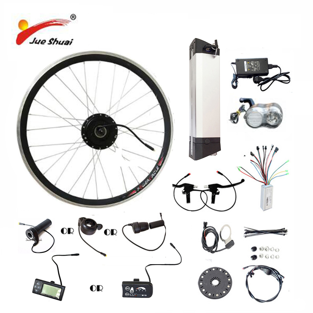 20 24 26 700C (28) vélo électrique Kit 36V10AH/12AH Bouilloire Batterie Ebike Kit Avec 250 w 350 w 500 w Moteur De la Roue Avant bicicleta