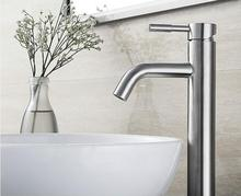 bathroom 304 Stainless Steel  Hot and Cold  no lead safe  hygienism  basin sink faucet  free shipping