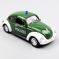 1 36 Scale Mini Welly VW Volkswagen Beetle Poliziei Police Pull Back Collectible Automobile Vehicle Cars