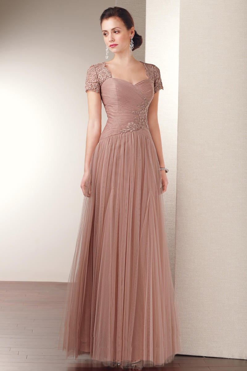 Cecelle 2016 brown copper long tulle modest bridesmaid dresses cap cecelle 2016 brown copper long tulle modest bridesmaid dresses cap sleeves a line ruched beaded appliques wedding party dresses in bridesmaid dresses from ombrellifo Images