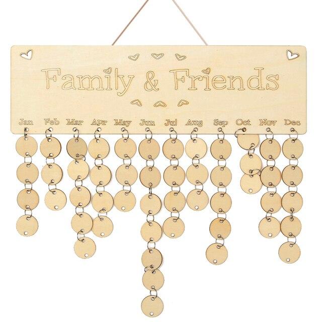 Kreative Holz Geburtstag Kalender Board Diy Familie Freunde
