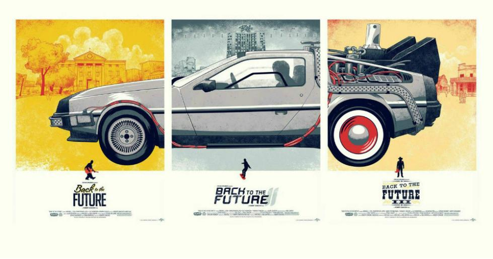 Back to the Future Canvas Fabric Poster Home Decoration Wall Art Fabric Print Stylish Retro Decor Nice Poster
