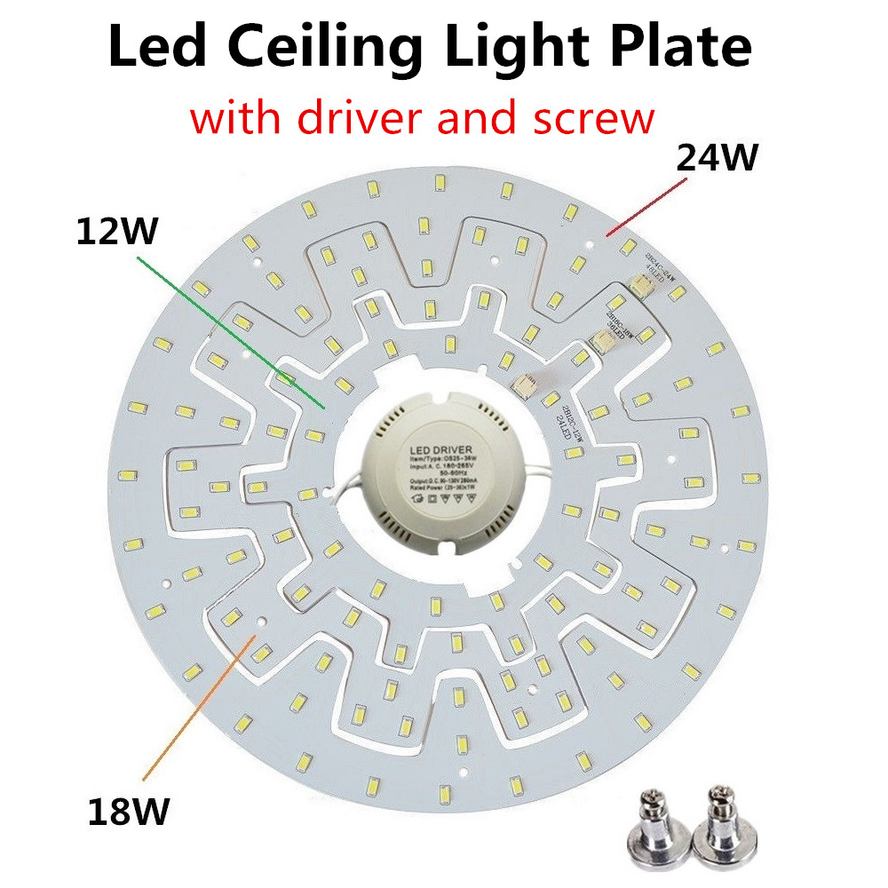 1pc 12w 18w 24w Led Ceiling Lights Plate Diy Pcb Board