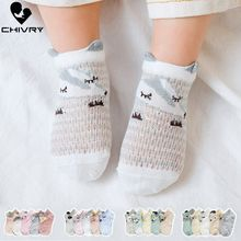 Chivry 5Pairs/lot Baby Socks Newborn Summer Mesh Thin for Girls Cotton Infant Casual Boy Toddler Cartoon