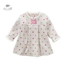 DB4891 dave bella spring new baby girl dots printed dress casual dress Lolita dress