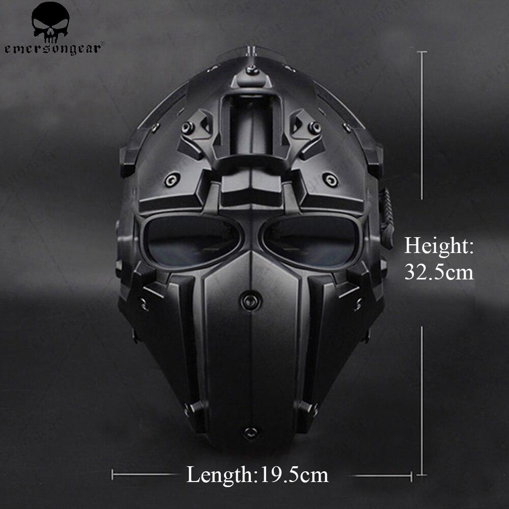 EMERSONGEAR Ronin ventilateur plein Mas lunettes masque masque en plastique 5 pièces lentille un ensemble masque de protection lunettes emerson casque BD6646 - 3