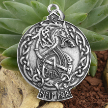 1pc Viking wolf Pendnat Celtics knot Drop S(China)