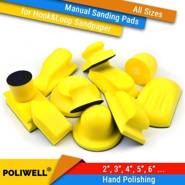 Tampons de ponçage à dos, à crochet et boucle, toutes tailles, disques abrasifs, papier de verre pour outils manuels de polissage
