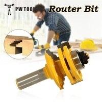 1 2 Woodworking Cabinet Tipped Door Router Bit Glass Door Window Cutter Router Bits Milling Cutter