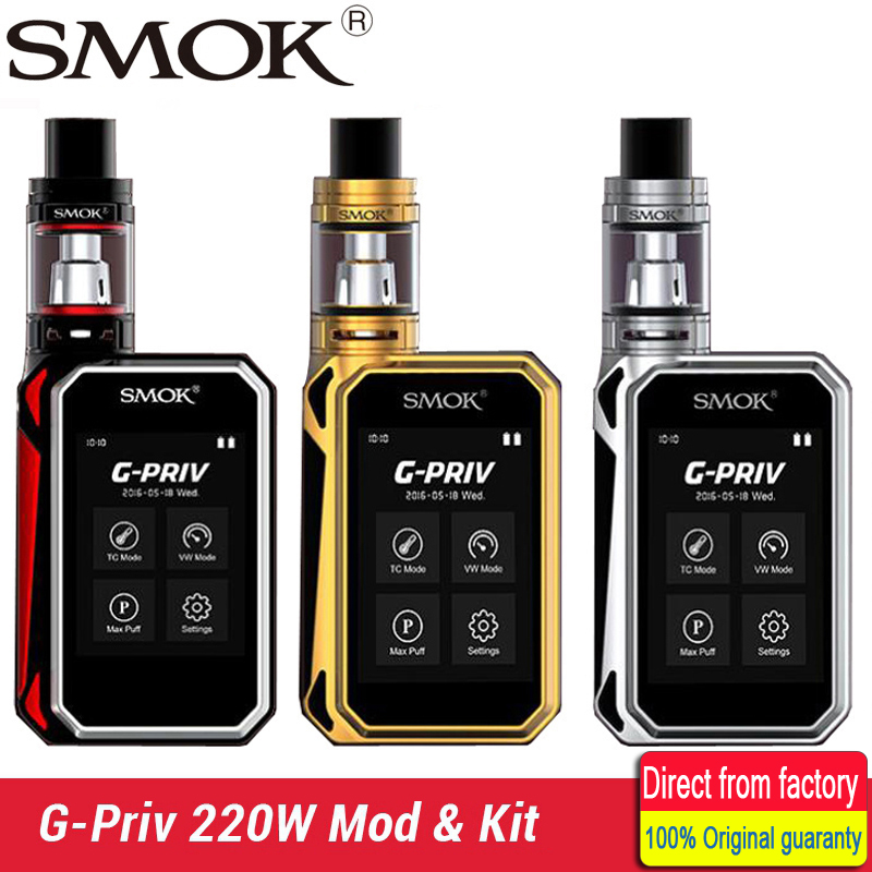 Original Smok G Priv 220W Touch Screen Box Mod Vape Compatible For TFV8 Atomizer Or TFV8