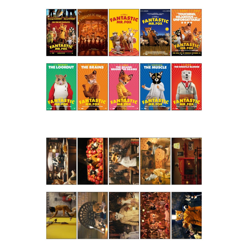 1 PCS Fantastic MR. Fox Anime Movie Theme Poster Uncut Sticker Post It Decoration Scrapbooking Stickers Bomb for Planner Wall