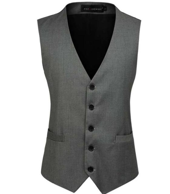 Men's vest new Style Slim Masculino Cotton Sleeveless Jacket Waistcoat Men Suit Vest  Blazer vest
