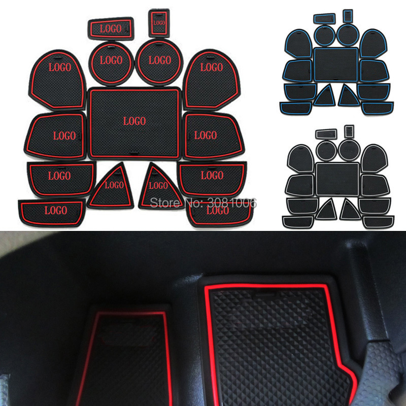 Non Slip For Jeep Grand Cherokee 2011-2014 Accessories Words Car Stickers Interior Door Groove Cup Gate Slot Mat Pad Car-Styling ...