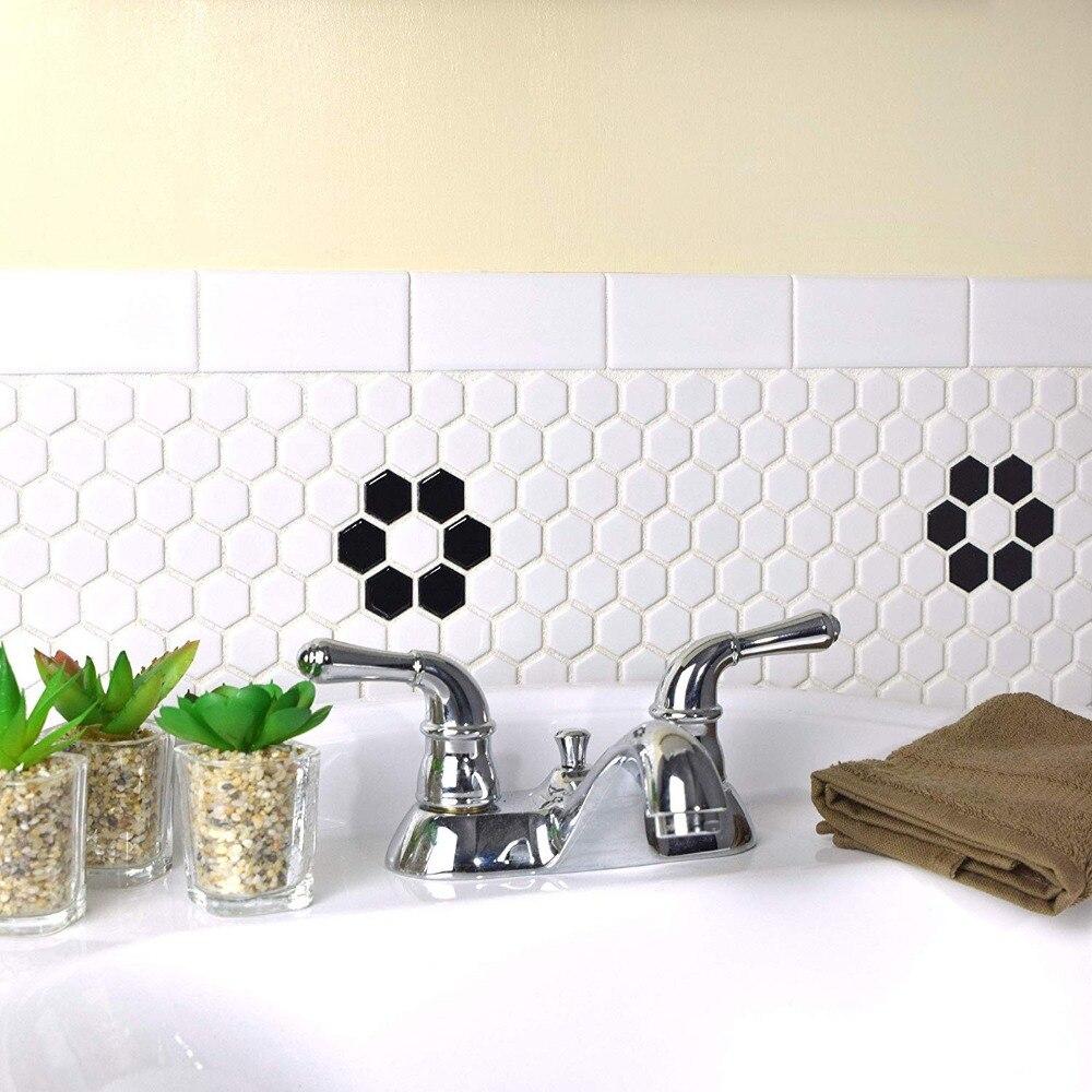 carrelage mural 3d carrelage en ceramique nid d abeille noir blanc brillant pour cuisine piscine salle de bains dosseret 23mm