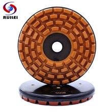 RIJILEI 200mm Resin Bond Diamond Grinding Disc 8inch Marble Plate Polishing pad for Concrete Granite YG30