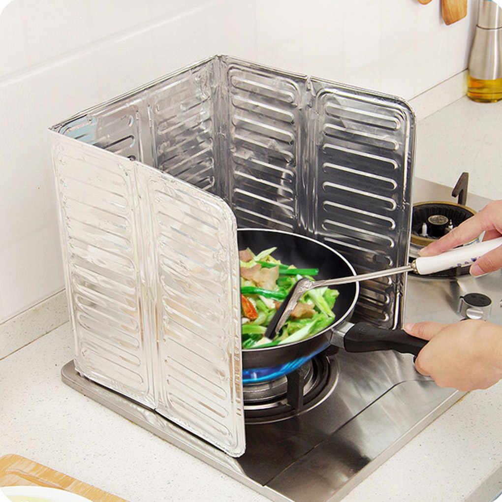ห้องครัวทำอาหารทอดน้ำมันสาดป้องกันแก๊สเตาน้ำมันกำจัด rust แผ่นห้องครัว guard เตา splash แผ่น skillet อะไหล่