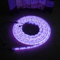 Yüksek kaliteli DC12V 5 m/Rulo 60led/m WS2811 flex neon dijital RGB rüya renk LED piksel ışık
