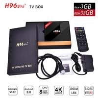 3GB 32GB ROM Android TV Box H96 Pro Plus Android 7 1 Amlogic S912 Octa Core