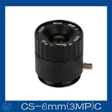 cctv camera lens 6mm Fixed Iris lens, 1/2.5 cs Mount  Fixed F1.6  for Security Camera.CS-6mm(3MP)C