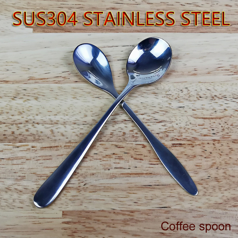 SUS304 Stainless Steel Coffee Spoon Household Children Small spoons Restaurant Originality Mixing Spoon High End Tableware in Spoons from Home Garden