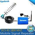 Mais recente Diy Kit 4G Impulsionadores Do Sinal de Telefone Celular Móvel 65dbi GSM Sinal de Celular Repetidor 1800 Mhz 4G LTE amplificador
